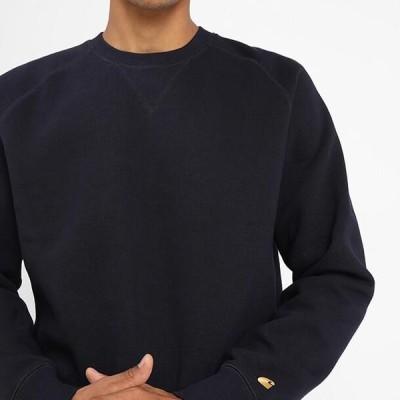 カーハート メンズ ファッション CHASE - Sweatshirt - dark navy/gold