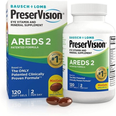 PreserVision AREDS 2  プリザービジョン2 120錠 アイビタミン&ミネラルサプリメント 加齢黄斑変性対策サプリ ゼアキサンチン 亜鉛 ビタミンE