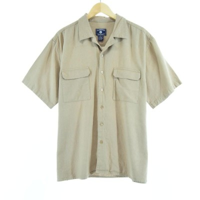 O'KIEF&O'KIEF 半袖 オープンカラー リネンシャツ XL /eaa049210