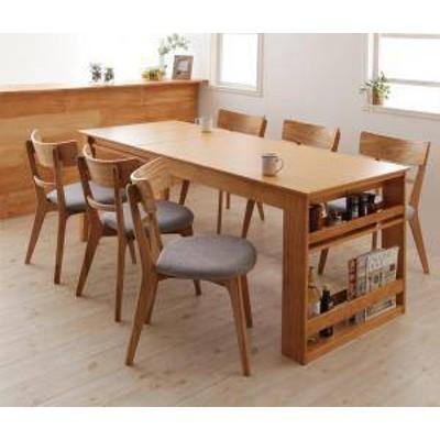ダイニングテーブルセット 6人用 椅子 おしゃれ 伸縮式 伸長式 安い 北欧 食卓 7点 ( 机+チェア6脚 ) 幅120-180 デザイナーズ クール ス
