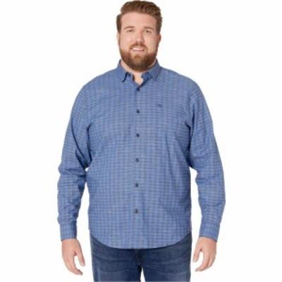トミー バハマ Tommy Bahama Big and Tall メンズ トップス Newport Cimarron Check IslandZone Shirt Mazarine Blue