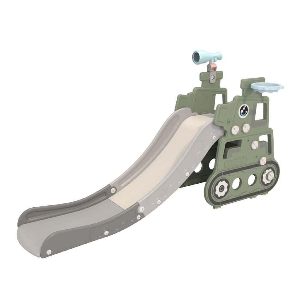 kikimmy 坦克造型溜滑梯-蘇格蘭綠