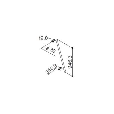控えパイプ(HH3K-10443) YKK バルコニ- アルミベランダ YKKバルコニー 3BC-8 パルテ