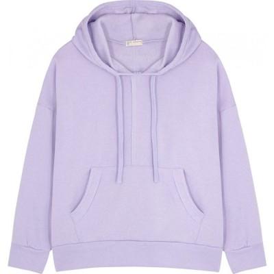 フリーピープル Free People Movement レディース スウェット・トレーナー トップス work it out lilac cotton-blend sweatshirt Purple