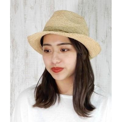 minia / 100%ラフィアの中折れハット [ minia ] WOMEN 帽子 > ハット