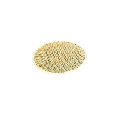 萬洋 竹製 樹脂渕丸盆ザル 33cm