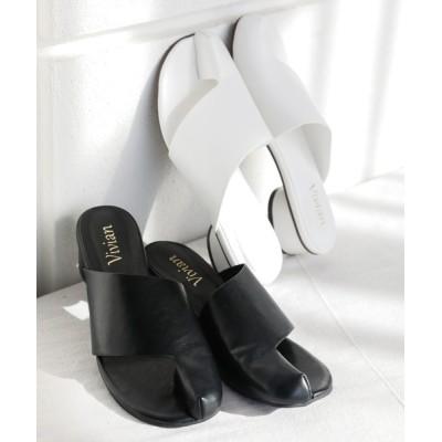 VIVIAN COLLECTION / 【2021年夏新作】足袋デザインミュールサンダル WOMEN シューズ > サンダル