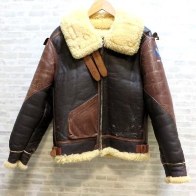 ザ リアルマッコイズ TYPE B-3 フライトジャケット 33H 5595 サイズ40 ジャケット 冬物 防寒 メンズ 40R ブラウン The REAL McCOY'S アウター W4359D☆