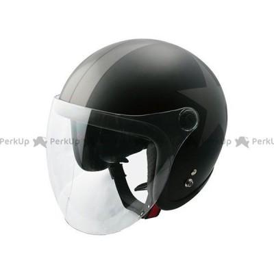 SPEEDPIT ジェットヘルメット JL-65SRスモールJETシールドツキ(H.Mブラック/ガンメタル/スター) 送料無料 スピードピット