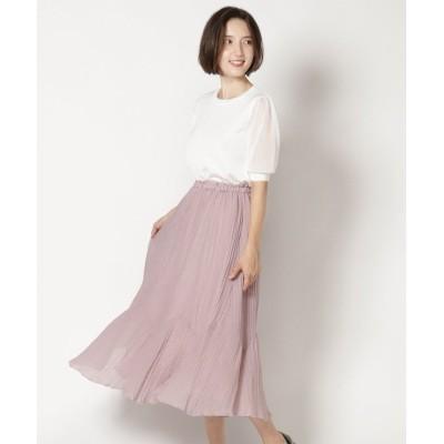 【スウィングル】 変形切り替えスカート レディース ピンク M Swingle