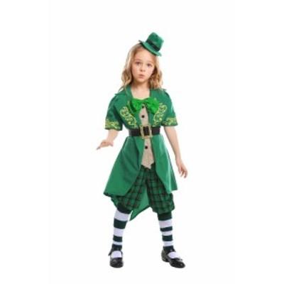 ダンス衣裳 子供サイズ 聖Patricks Day 妖精風衣裳 ステージ用 舞台用 お笑い 二次会 年始年末 お化け ハロウィンパーティへ!