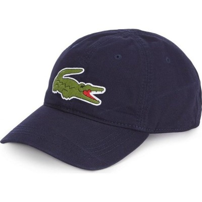 ラコステ Lacoste メンズ 帽子 Big Croc Gabardine Cap Navy Blue