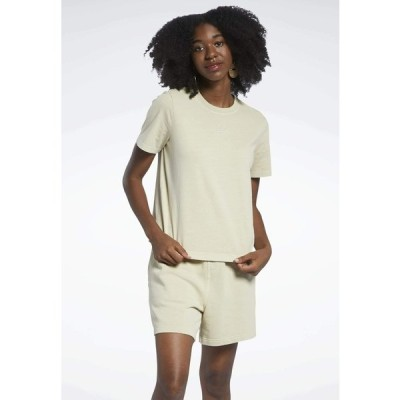 リーボック Tシャツ レディース トップス CLASSICS NATURAL DYE - Basic T-shirt - beige