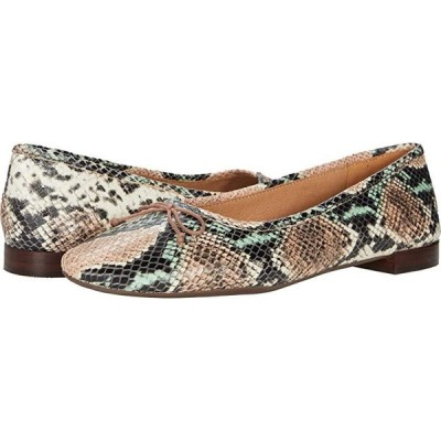 Madewell Maria Ballet Flat レディース フラットシューズ Muted Shell Multi Snake Embossed Leather
