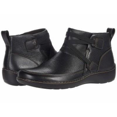 クラークス レディース ブーツ・レインブーツ シューズ Cora Blossom Black Leather