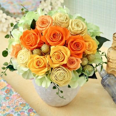 プリザーブド&アーティフィシャルアレンジメント「フレッシュシトラス」 プリザーブドフラワー・造花