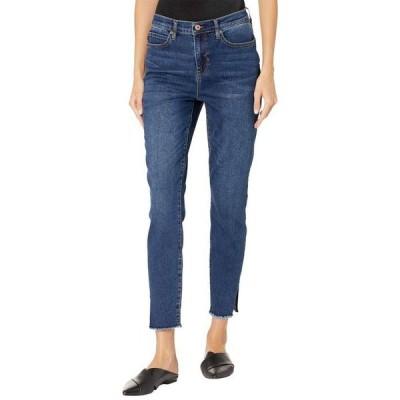 ニコールミラーニューヨーク レディース デニムパンツ ボトムス Side Slit Fray Bottom Skinny Jeans