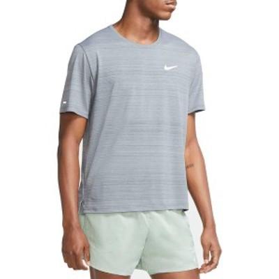 ナイキ メンズ シャツ トップス Nike Men's Dri-FIT Miler T-Shirt Smoke Grey