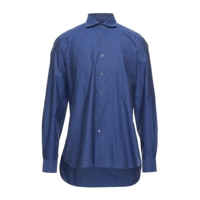 カルーゾ CARUSO シャツ ブライトブルー 41 コットン 100% シャツ
