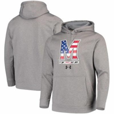 Under Armour アンダー アーマー スポーツ用品  Under Armour Maryland Terrapins Gray Americana School Logo Tech Perfo