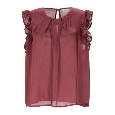 VICOLO トップス ファッション  レディースファッション  トップス  Tシャツ、カットソー  半袖 ボルドー