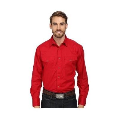 Roper ローパー メンズ 男性用 ファッション ボタンシャツ L/S Solid Basic Snap Front - Red