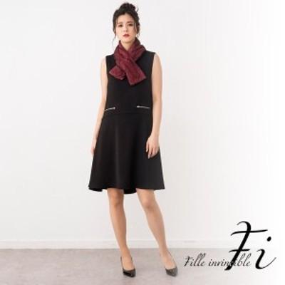 Fille invincible (ラブリークィーン)/【結婚式・お呼ばれ・二次会・女子会・パーティー・対応ドレス】ファー付きハードジョーゼット…
