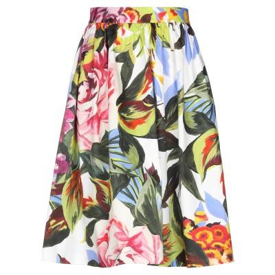 ブルーガール ブルマリン BLUGIRL BLUMARINE ひざ丈スカート ホワイト 40 コットン 96% / ポリウレタン 4% ひざ丈スカート