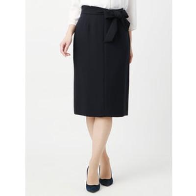 ◆【ウォッシャブル】●JAPAN QUALITY●ベルト付きセミタイトスカート◆