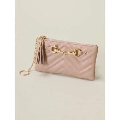 セシルマクビー CECIL McBEE Wキルティングミニ財布 (ピンク)