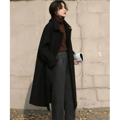 FRP / メルトン ステンカラー コート WOMEN ジャケット/アウター > ステンカラーコート