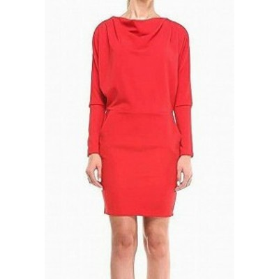 Red  ファッション ドレス Laura Bettini NEW Red Womens Size XXL Plus Cowl-Neck Dolman Sheath Dress #590
