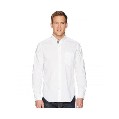Nautica ナウチカ メンズ 男性用 ファッション ボタンシャツ Long Sleeve Anchor Solid End on End - Bright White