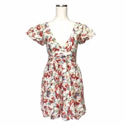 美品 MERCURYDUO マーキュリーデュオ ボタニカルワンピース (花柄 ドレス フラワー 半袖) 121400 【中古】
