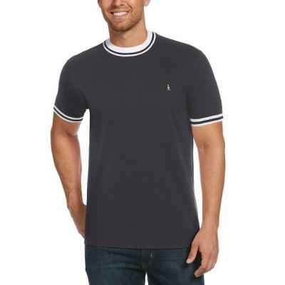 tシャツ Tシャツ モックネックピケ半袖シャツ