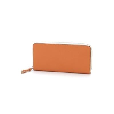 CYPRIS (キプリス) レディース ラウンドファスナーハニーセル長財布 オレンジ ワンサイズ