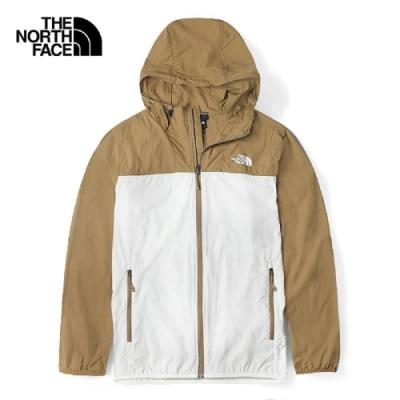 The North Face 男 輕量風衣外套 咖白-NF0A4U8XG4L