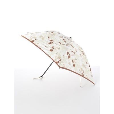 MOONBAT (ムーンバット) レディース 【ルフジュ】婦人折りたたみ傘シルエット花柄 ベージュ フリー