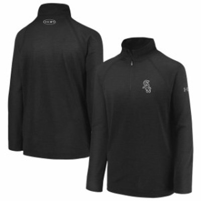 Under Armour アンダー アーマー スポーツ用品  Under Armour Chicago White Sox Youth Black LC Logo Performance Quarte