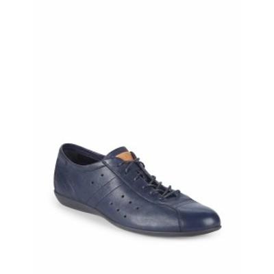 バリー メンズ スニーカー Harmon Lace-Up Leather Sneakers