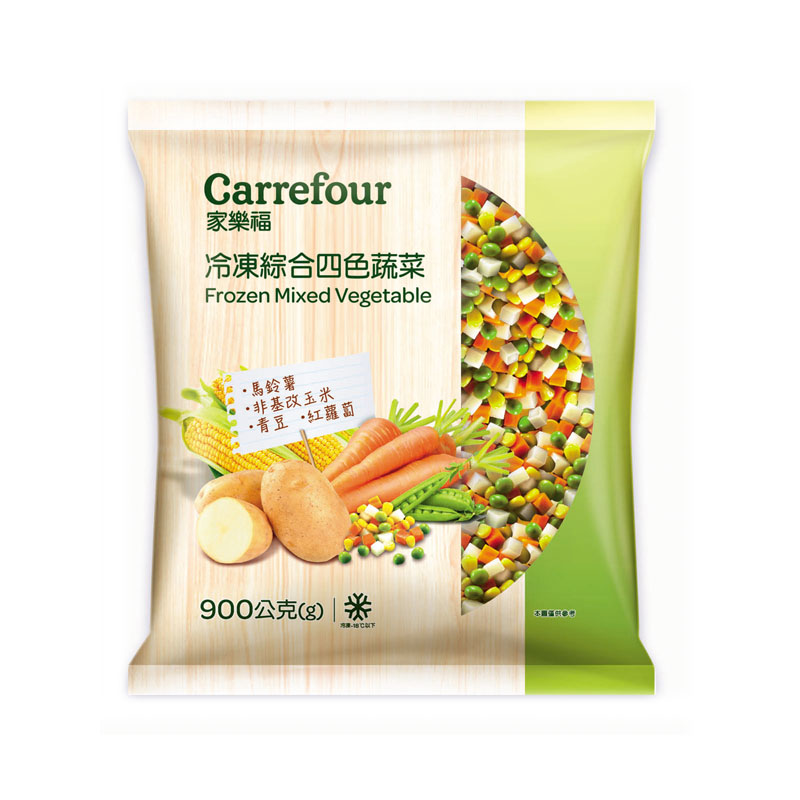 家福冷凍綜合四色蔬菜