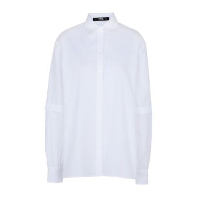 カールラガーフェルド KARL LAGERFELD シャツ ホワイト 38 コットン 100% シャツ