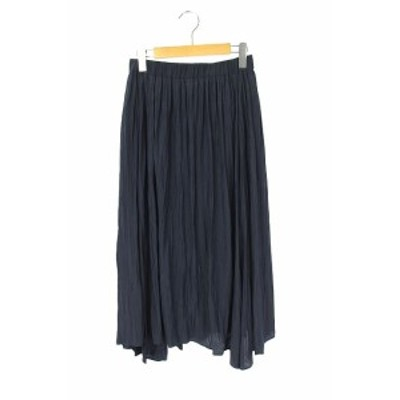 【中古】コンバース CONVERSE TOKYO スカート フレア ギャザー ロング イージー 紺 /AA レディース