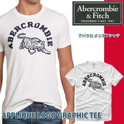 Abercrombie&Fitch アバクロ アバクロンビー&フィッチ APPLIQUE LOGO GRAPHIC Tシャツ 半袖シャツ メンズ アメカジ トラ 虎 タイガー 刺繍
