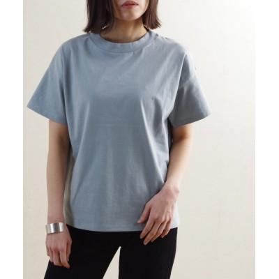 (Fizz/フィズ)【2021新作】モックネックサイドスリットTシャツ mitis SS ルームウエア/レディース サックス