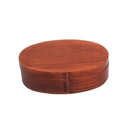 【個数:1個】中茂国際  BDHRT02A 木製 一段 小判型 小 木目 バンド付き 曲げわっぱ 弁当箱 15.5CM
