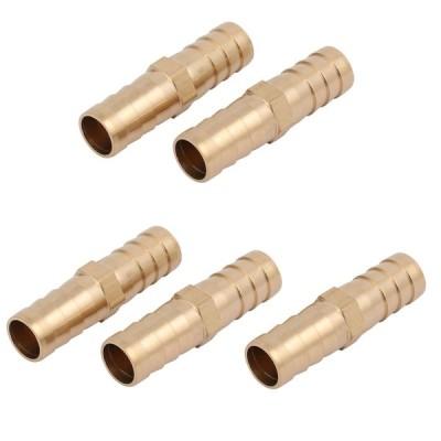 uxcell ホースバーブフィッティング 銅ストレートタイプ パイプチューブコネクタ 12mm内径 5個入り