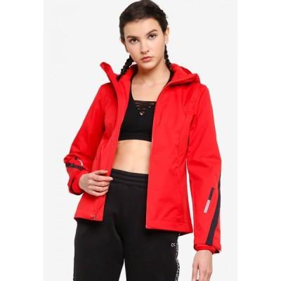 カルバンクライン Calvin Klein レディース ジャケット アウター Galaxy 2-In-1 Woven Jacket - Performance Flashing Red