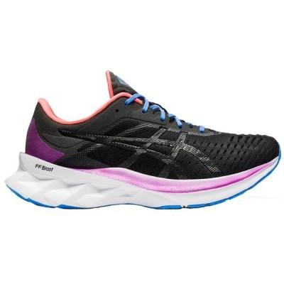 アシックス シューズ レディース ランニング ASICS Women's NOVABLAST Running Shoes Black/Pink/Blue