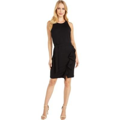ビービーダコタ BB Dakota レディース ワンピース ラップドレス ラップスカート ワンピース・ドレス Ponte Dress with Wrap Skirt Black